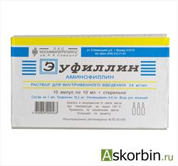 эуфиллин 24% 1мл 10, фото 6