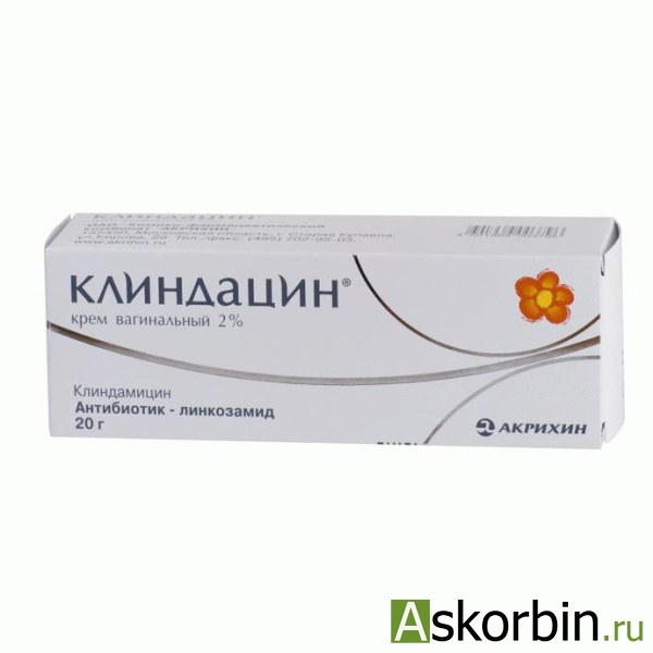 клиндацин 2% 20г крем ваг., фото 2