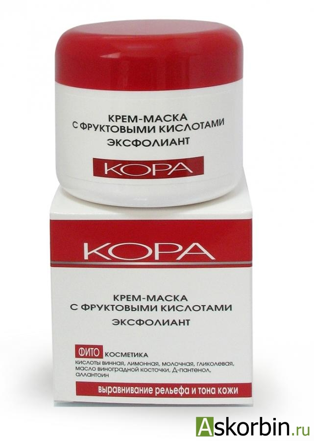 Кора Крем-маска с фруктовыми кислотами Эксфолиант 100мл, фото 3