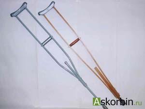 Костыли опорные металлические д/подростков пара, фото 5