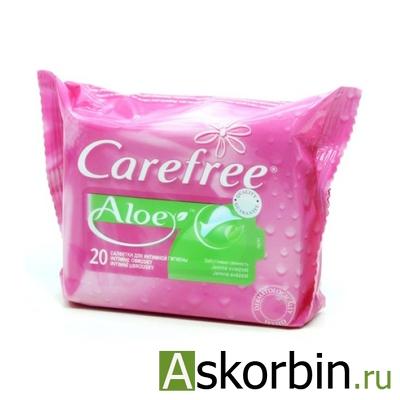 Кэфри салфетки для интимной гигиены алое 20шт, фото 1