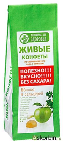 Мармелад Лакомства д/здоровья 170г Яблоко/сельдерей, фото 1