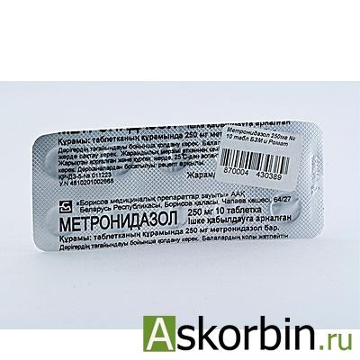 МЕТРОНИДАЗОЛ 0,25 N10 ТАБЛ /ОБНОВЛЕНИЕ/, фото 1
