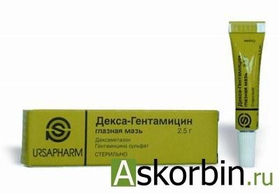 декса-гентамицин 2,5 гл.мазь, фото 2