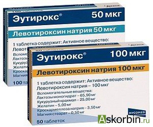 эутирокс 50мкг 100 таб., фото 5