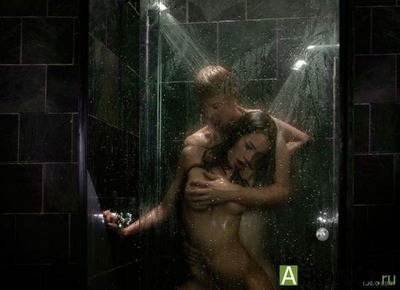 красивый секс в душе
