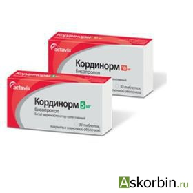 кординорм тб.п/о 5 мг 30, фото 3