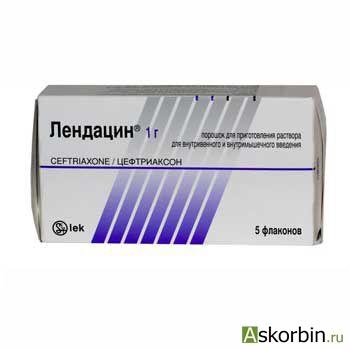 лендацин пор. д/ин. 1г 5 фл, фото 3