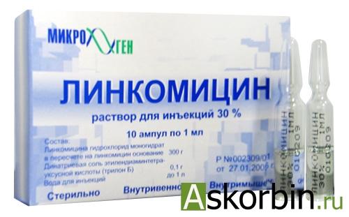 линкомицина г/хл амп.30% 1.0 10, фото 2