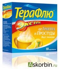 терафлю лимон экстра 10 пак., фото 2