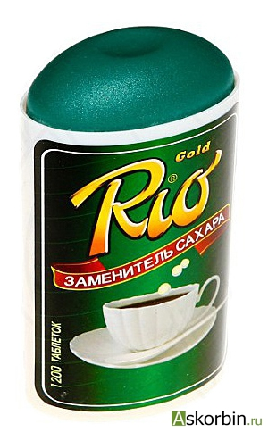 заменитель сахара rio 1200таб., фото 1