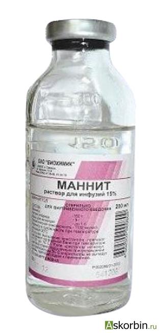 маннит 15% 200 мл р-р д/инф, фото 2