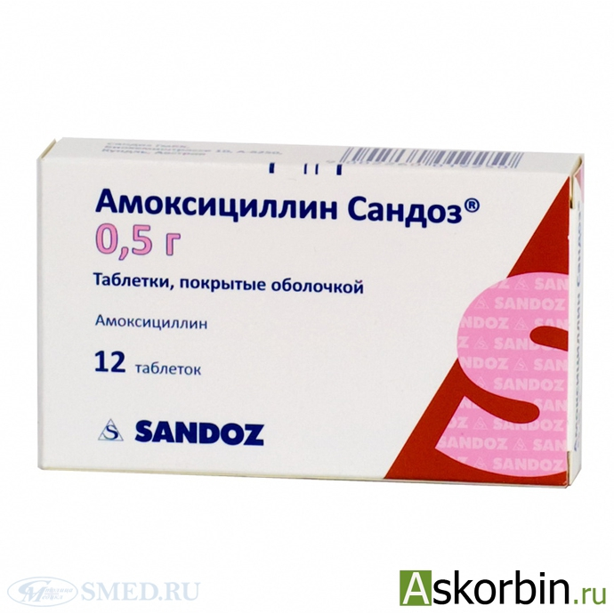 АМОКСИЦИЛЛИН 0,5 N20 ТАБЛ, фото 2