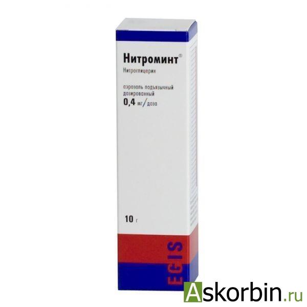 нитроминт аэр. подъяз. доз.0,4/доза 10г, фото 2